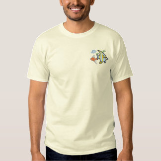 School Of Fish Embroidered T-Shirt