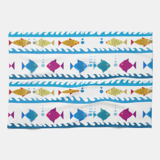 School of Fish on Kitchen Towel