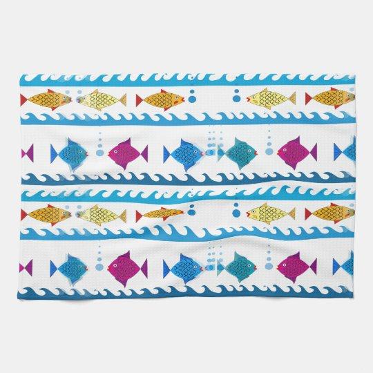 School of Fish on Kitchen Towel