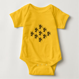 School of Happy Fish Baby Bodysuit