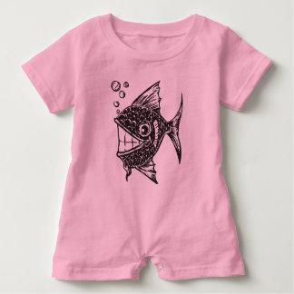 School of Happy Fish Baby Romper