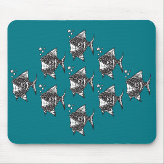 School of Happy Fish Mouse Pad