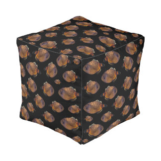 School Of Leatherjacket Fish, Full Print Pouffe. Pouf