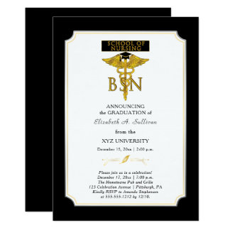 School of Nursing Nurse BSN Graduation Card