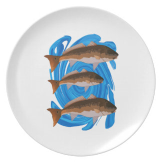 SCHOOL OF REDS PLATE