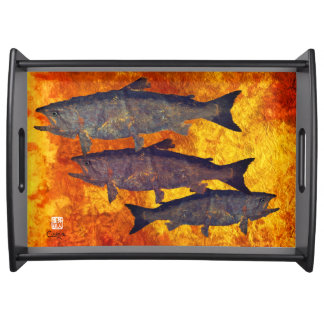 School of Salmon - Large Serving Tray