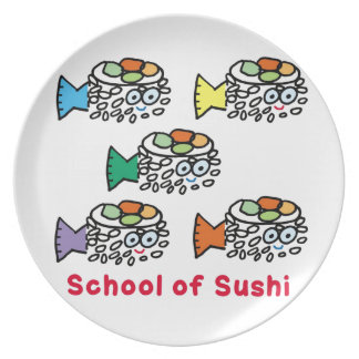 School of Sushi Dinner Plates