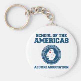 school of the americas alumni keychain
