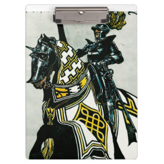 School/Office clipboard with Knight On Horseback
