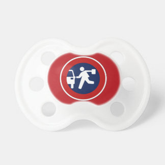 School Pick-Up Point, Traffic Sign, Argentina Baby Pacifier