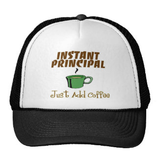 "School Principal Gifts ""Just Add Coffee"" Mesh Hats"