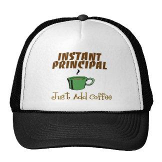 "School Principal Gifts ""Just Add Coffee"" Trucker Hat"