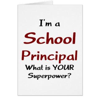 School principal greeting card
