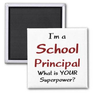 School principal square magnet