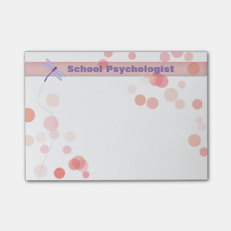 School Psychologist Dragonfly Post-it Notes