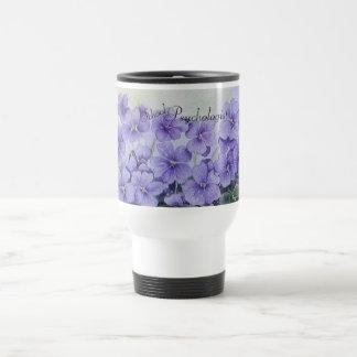 School Psychologist Floral Travel Mug