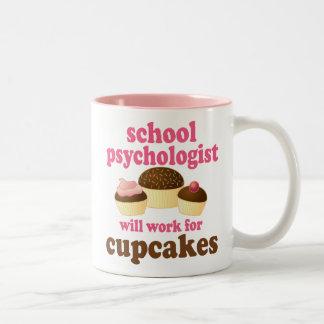 School Psychologist (Funny) Gift Two-Tone Coffee Mug