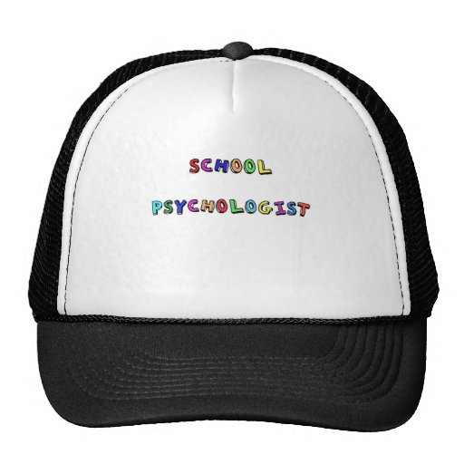 SCHOOL PSYCHOLOGIST TRUCKER HATS