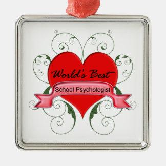 School Psychologist Metal Ornament