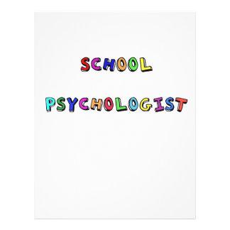 SCHOOL PSYCHOLOGIST PERSONALIZED LETTERHEAD
