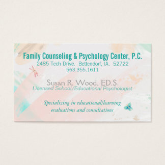 School Psychologist Private Practice Business Card