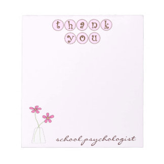 School Psychologist Quick Thank You Notepad