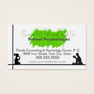 School Psychologist's Business Card