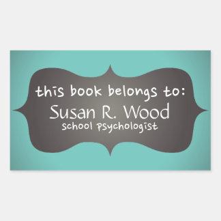 School Psychologist's Customized Book Stickers
