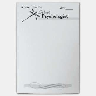 School Psychologist's Dragonfly Large-Size Post-it Post-it Notes