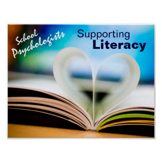 School Psychologists Supporting Literacy Poster