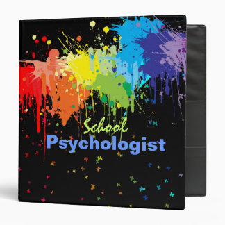 School Psychology Binder in Paint Splatter Design