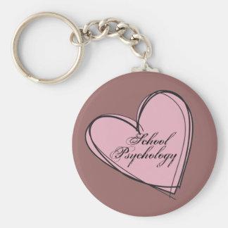 School Psychology Heart Key Chain