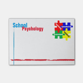 School Psychology Puzzle Post-it Notes
