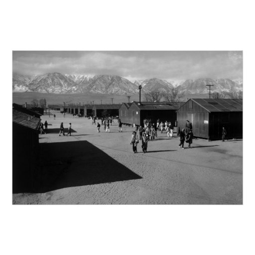 School Recess, Manzanar Relocation Center: 1943 Print