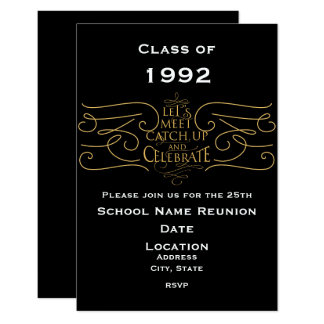 School Reunion Design, elegant style Card