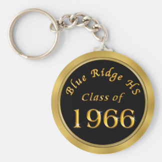 School Reunion Gifts in Your COLORS, SCHOOL, YEAR Basic Round Button Keychain