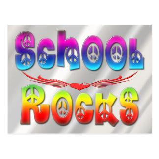 School Rocks - Peace Postcard