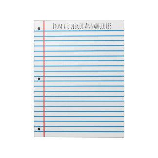 School Rule Notepad