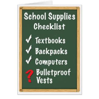School Safety Supplies Checklist Card