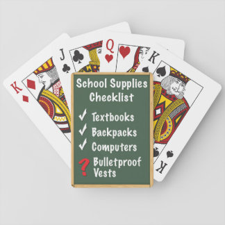 School Safety Supplies Checklist Playing Cards