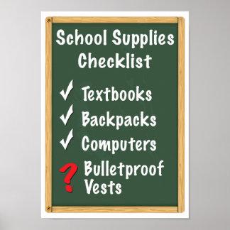 School Safety Supplies Checklist Poster