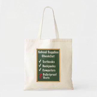 School Safety Supplies Checklist Tote Bag