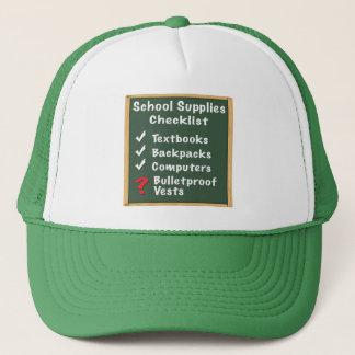School Safety Supplies Checklist Trucker Hat