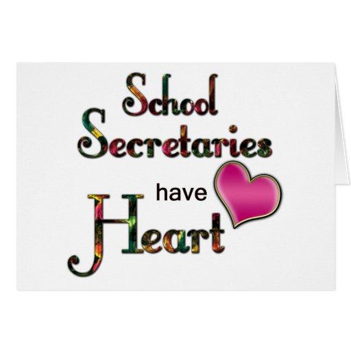 School Secretaries Have Heart Cards