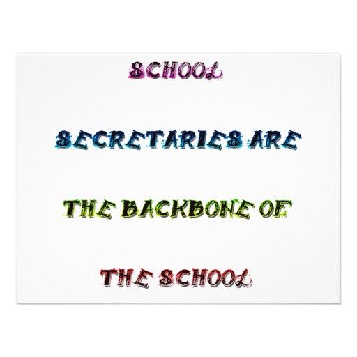 SCHOOL SECRETARIES CUSTOM ANNOUNCEMENT