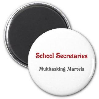 School Secretaries Multitasking Marvels 2 Inch Round Magnet