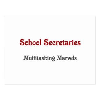 School Secretaries Multitasking Marvels Postcard