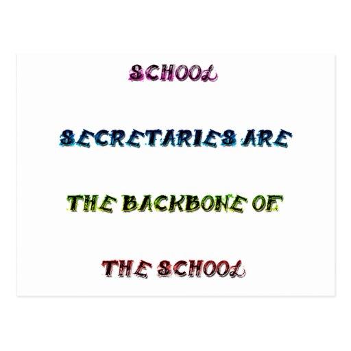 SCHOOL SECRETARIES POSTCARD