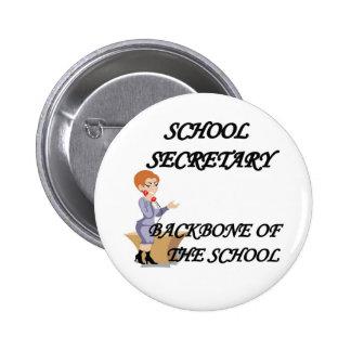 SCHOOL SECRETARY 2 INCH ROUND BUTTON