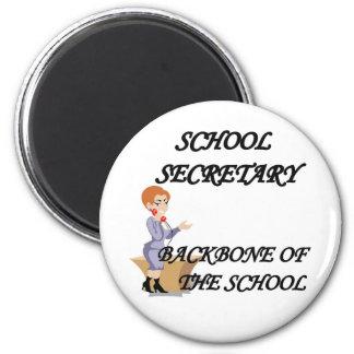SCHOOL SECRETARY 2 INCH ROUND MAGNET
